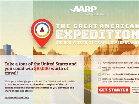 Aarp Travel Sweepstakes - aarp great american expedition 10 000 worth of travel sweepstakes