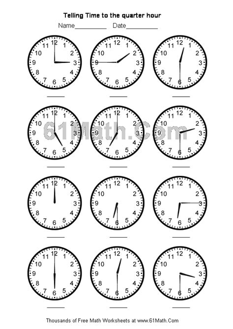 printable worksheets telling time quarter hour telling time to the hour new calendar template