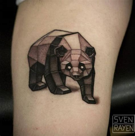 tattoo panda geometric 25 perfectly cute panda tattoos tattooblend