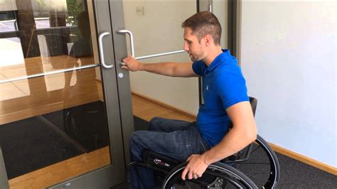 How To Get A Through A Door by Opening Doors From A Wheelchair