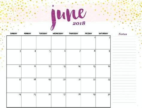 2018 printable june calendar printable free calendar and template