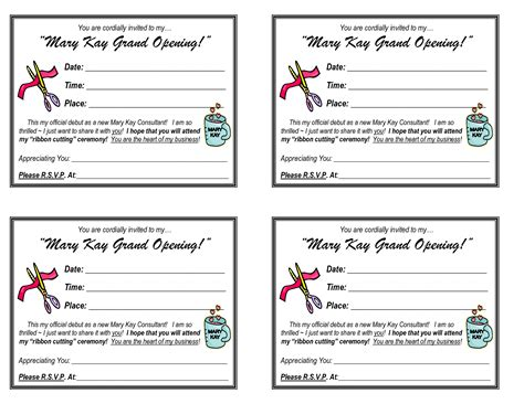 mary kay invitations template best template collection