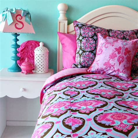 pink and aqua bedding girly bedding