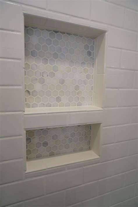 shower niche tiled shower renovation bathrooms