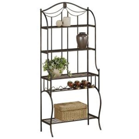 Bakers Rack Home Depot by Hillsdale Furniture Camelot Baker S Rack 41417 The Home