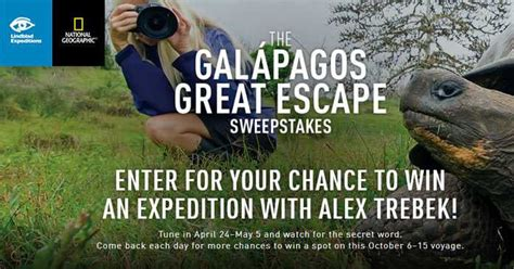 Jeopardy Sweepstakes - get today s word for jeopardy s galapagos great escape sweepstakes