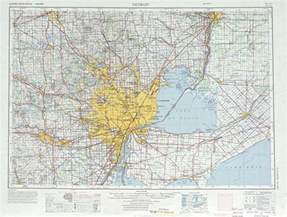 Map Of Detroit Michigan by Detroit Topographic Maps Mi Usgs Topo Quad 42082a1 At 1