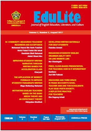 email unissula edulite journal of english education literature and culture