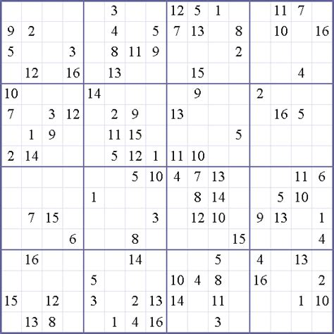 printable sudoku with 16 numbers 16x16 sudoku related keywords 16x16 sudoku long tail