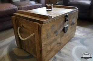Coffee Table Trunks Chests Rustic Wooden Chest Trunk Blanket Box Shabby Vintage