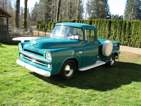 dodge retro truck 1957 dodge d100 53k original mile restored retro cruiser