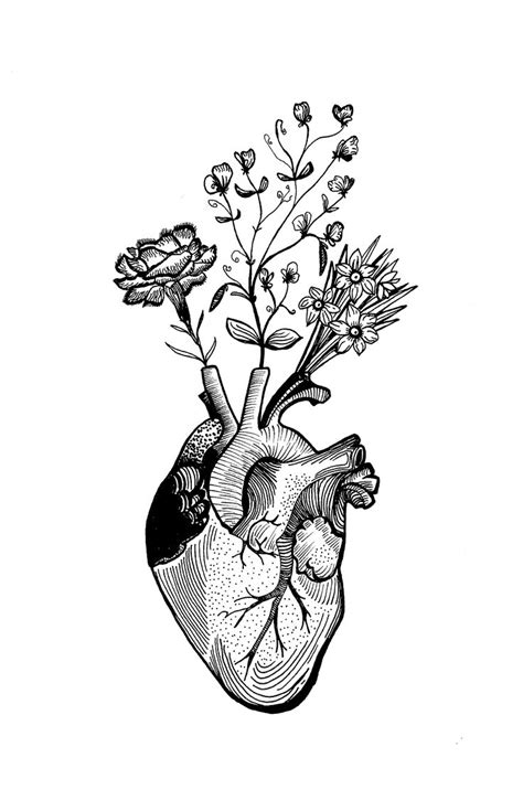 flower heart tattoos the 25 best ideas about anatomical tattoos on