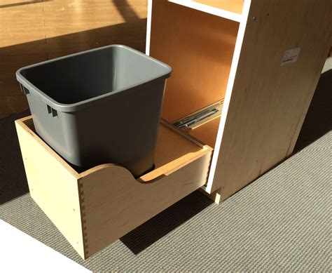 Trash Can Drawer by 1 Pullout Trash And 1 Drawer Cabinet Single Can