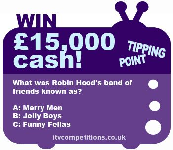 Competitions Win Money - tipping point competition win cash 163 15 000 prize w c 18 02 2013