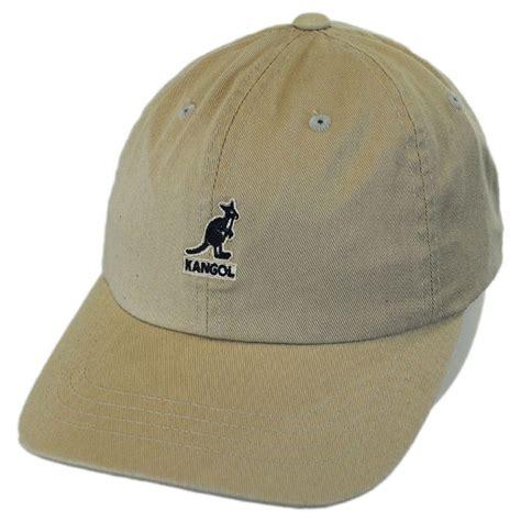 kangol washed cotton strapback baseball cap all baseball caps