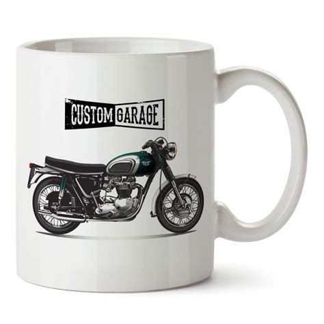 oezel garaj motosiklet tasarim baskili kupa bardak mutfak