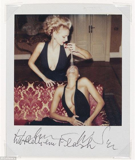 helmut newton polaroids iconic helmut newton self portrait set to fetch 163 90k at christie s as it goes under the hammer