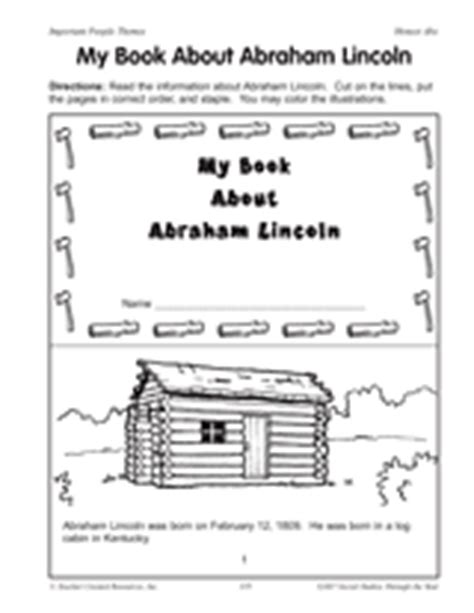 abraham lincoln biography first grade a mini book about abraham lincoln grades 2 4 for