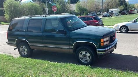 how cars run 1996 gmc yukon spare parts catalogs find used green 1996 yukon four wheel drive blown transmission engine runs great in bozeman