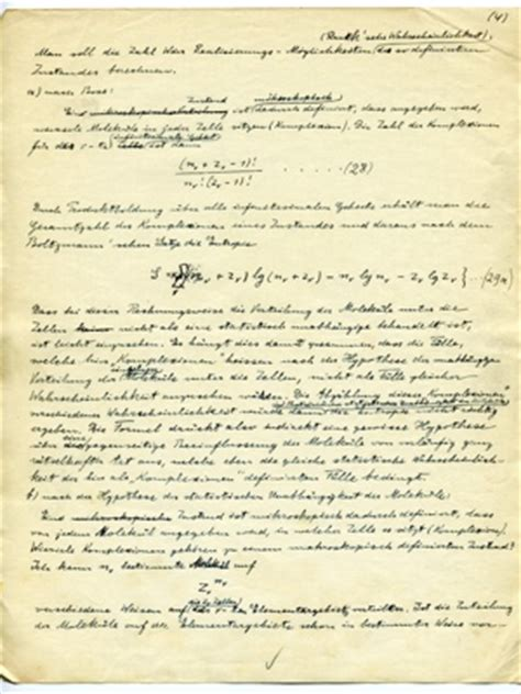 albert einstein research paper einstein s 1925 manuscript