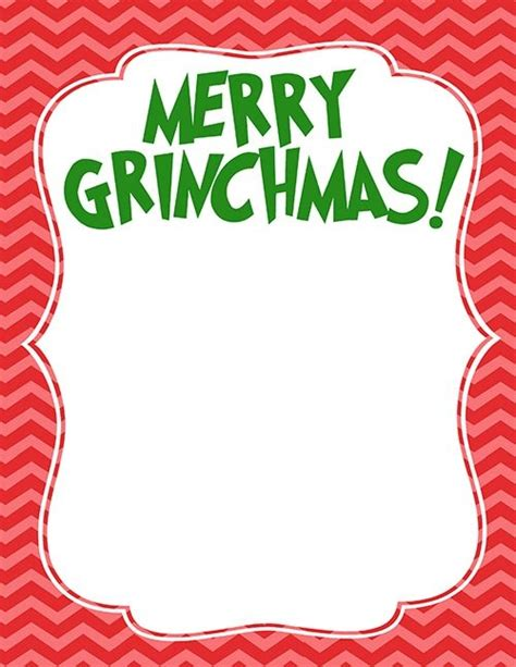 Grinch Card Template by Grinch Cards Special Day Celebrations