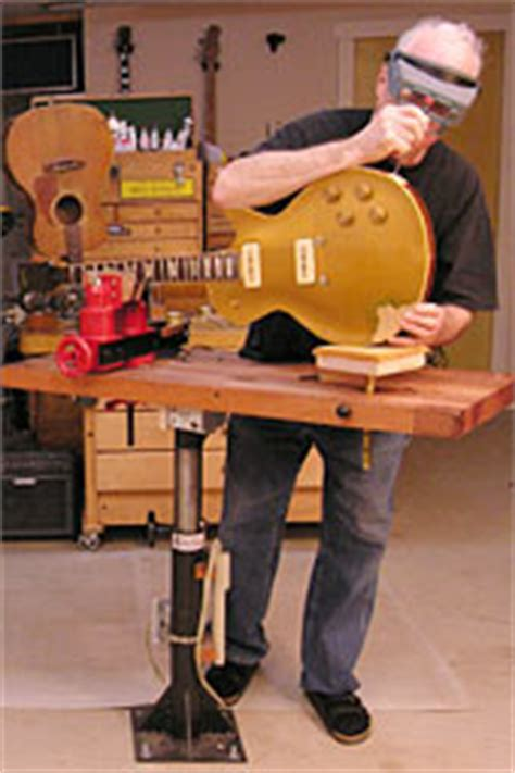guitar repair bench shopstand solving the space problem in a cluttered shop