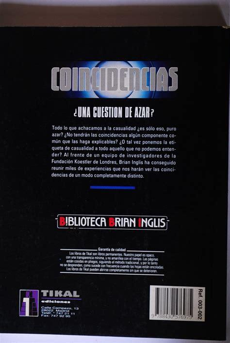 libro todo es cuestin de libro coincidencias una cuesti 243 n de azar brian inglis bs 1 710 000 00 en mercado libre