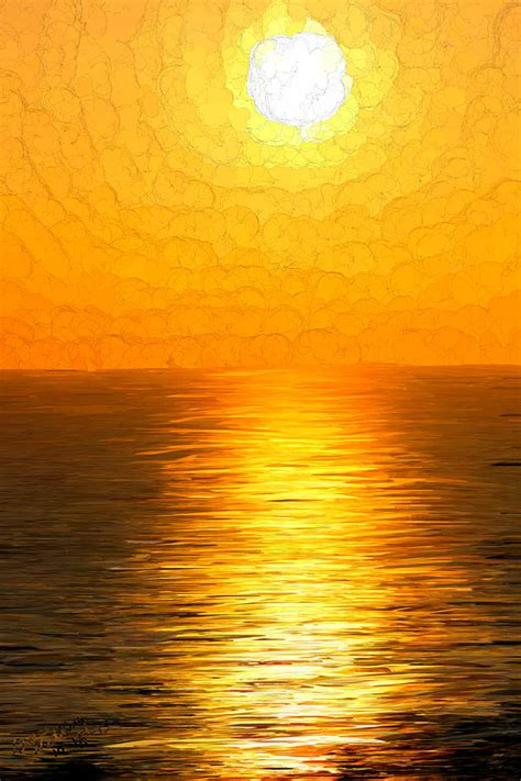 golden sunset painting by bruce nutting