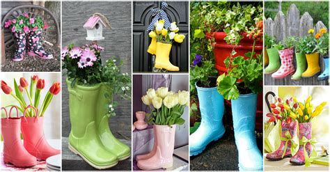 20 Gorgeous Rain Boots Planter Ideas That You Will Love Boot Planter