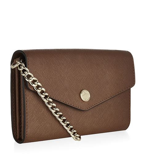 Phone Crossbody Bag michael michael kors phone crossbody bag in brown luggage