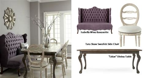 haute house design quot isabella quot wing banquette quot liday quot dining table swedish side chair