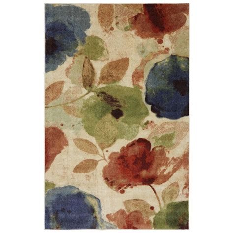 mohawk floral rug watercolor floral rug 5 x 8 by mohawk home watercolors great deals and shopping
