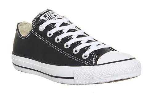 Converse Ct Solgum Unisex converse ct 132174c ox leather black white unisex trainers ebay