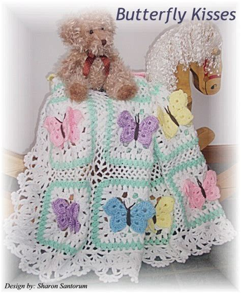 butterfly baby blanket knitting pattern butterfly kisses crochet baby afghan or blanket pattern