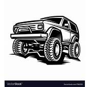 Car Off Road 4x4 Suv Trophy Truck Royalty Free Vector Image