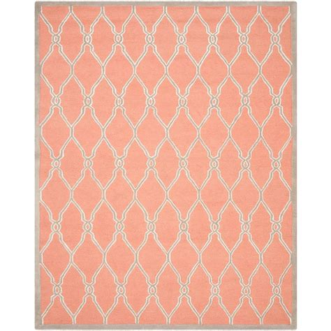 Coral Area Rug Safavieh Cambridge Coral Ivory 8 Ft X 10 Ft Area Rug Cam352w 8 The Home Depot