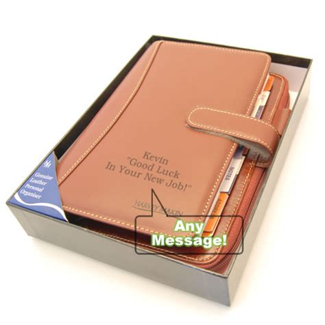 gifts uk leather personal planner organiser personalised dg10155