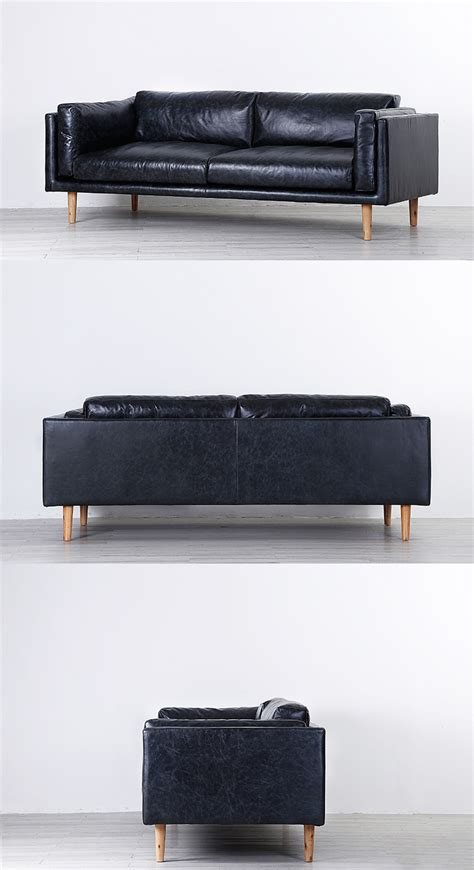 Black Leather Sectional Sofa Modern Sectional Sofa Black Leather Lungo L Belianicom Russcarnahan