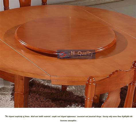 solid oak wood turntable bearing lazy susan dining table