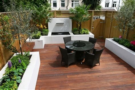 Small Patio Garden Design Small Garden Wimbledon Designed With Automatic Irrigation System Stainless Steel Waterfeature
