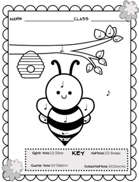 spring music coloring pages music coloring sheets spring easter color by note by