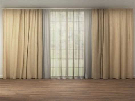 tende model curtain material c4d vray nrtradiant