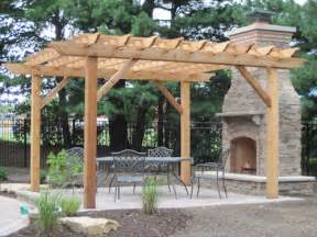 Pergola With Fireplace by Pergola With Attached Fireplace Outdoor Home Pinterest