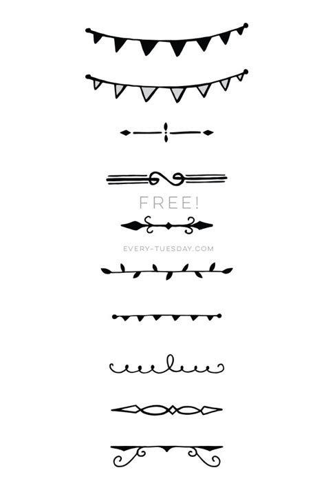 design dividers font freebie 10 hand drawn decorative dividers