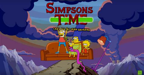 simpsons couch gag game the simpsons season 28 couch gag honors adventure time