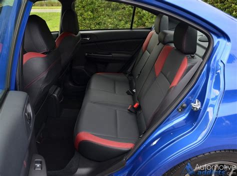 subaru wrx seats 2016 subaru wrx sti limited review test drive