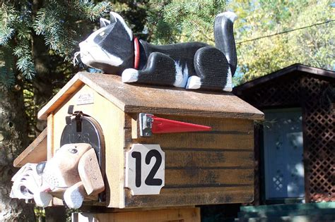 dog house mailbox woodendipity style mailboxes birds mailboxes fish mailboxes marine mailboxes