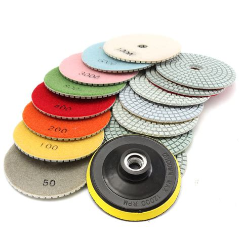 Sale Paku Beton Sherlock 4 Inch 16pcs 4 inch 50 to 10000 grit polishing pads for granite concrete marble sale