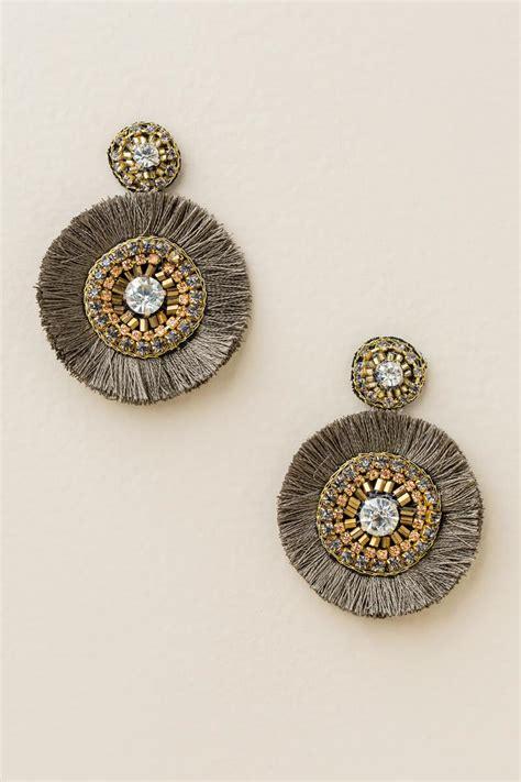 Circle Statement Earrings vera circle fan statement earrings s