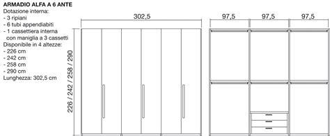 armadio dimensioni armadio alfa moderno laminato materico ante battenti